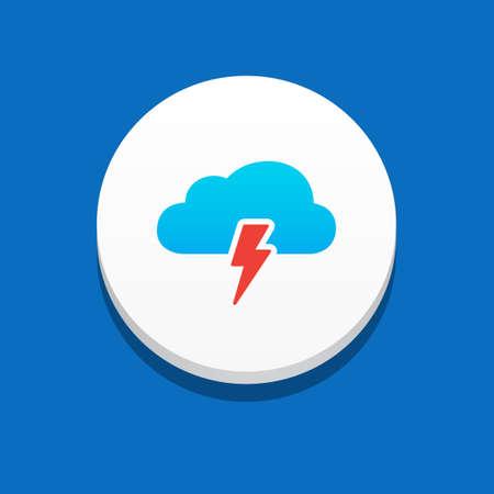 storm cloud: Storm Cloud Icon Blue Background