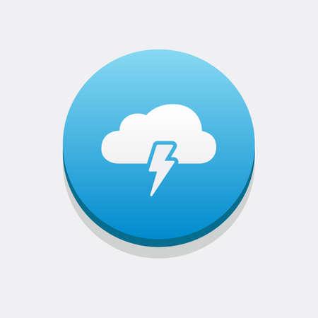 rain storm: Storm Cloud Icon