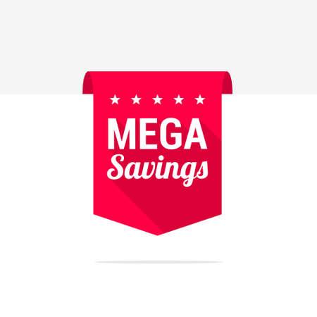 mega: Mega Savings Long Shadow Ribbon