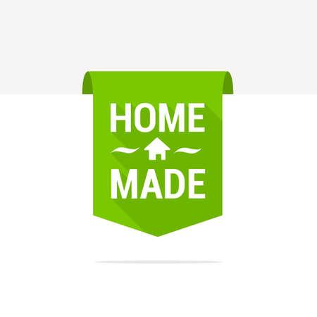 home made: Home Made Long Shadow Ribbon Illustration