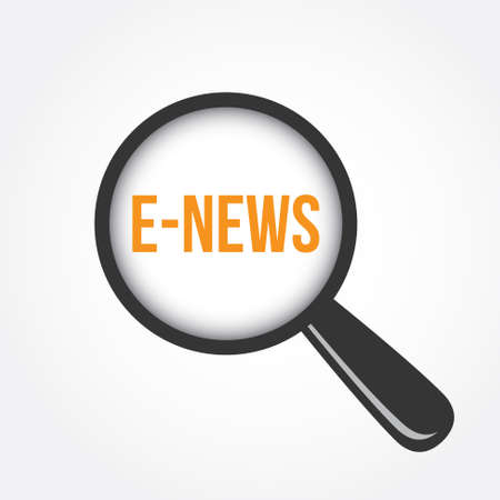 urgent announcement: E-News Magnifying Glass