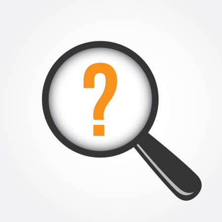 na: Question NA Magnifying Glass Illustration