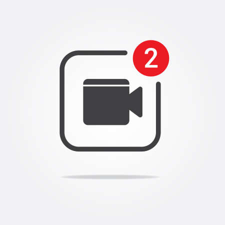 video call: Video Call Notification Icon Illustration