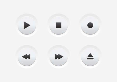 player controls: Media Player UI Buttons