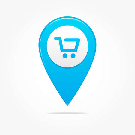 shopping cart icon: Shopping Cart Pin Icon