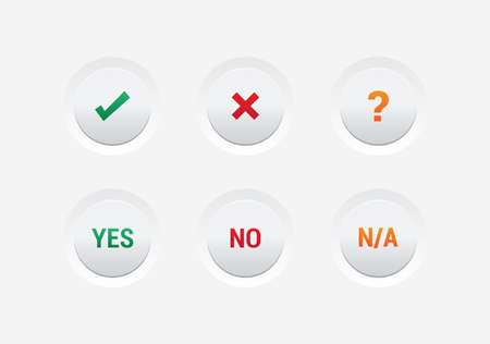 yes or no: Yes, No  NA Buttons