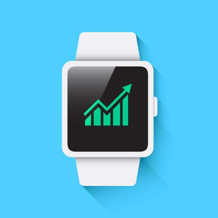 profits: Smart Watch Profits Icon Illustration