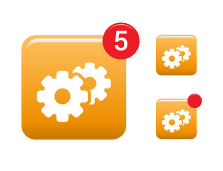 configuration: Configuration, Update  Support Icons Illustration