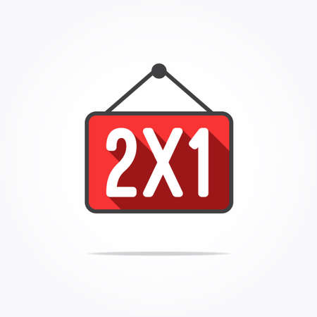2x1 Long Shadow Label Stock Illustratie
