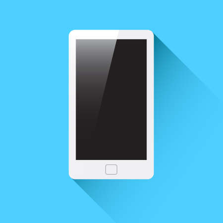 communication devices: Phone Flat Vector
