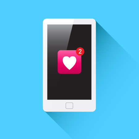 Phone Heart Notification Icon