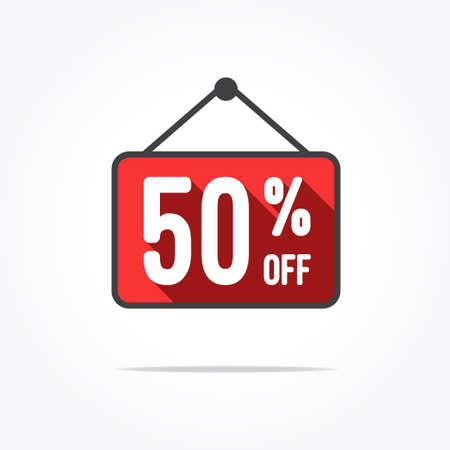 50 off: 50 Off Long Shadow Label