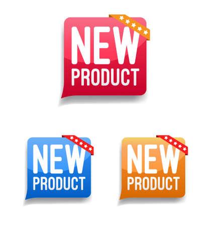 Nieuwe etiketten Stock Illustratie