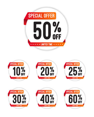 Speciale aanbieding Off Ronde Stickers Stockfoto - 49486520
