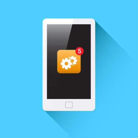 update: Phone Update  Support Notification Icon Illustration