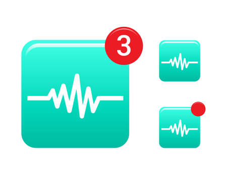 heart rate: Heart Rate  Music Wave Icons