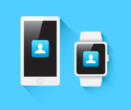 smart: Phone  Smart Watch Social Icon