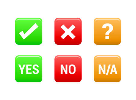 yes or no: Yes, No  NA Icons