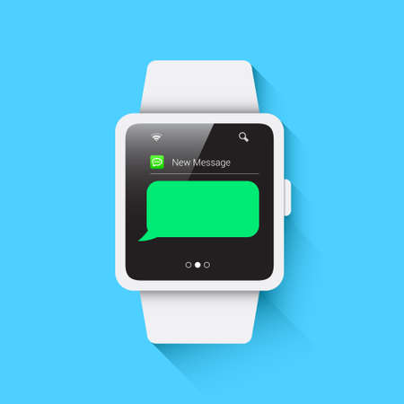 unread: Smart Watch New Message Illustration