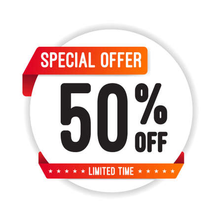 Speciale aanbieding! 50 Off Ronde Sticker