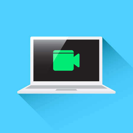 video call: Laptop Video Call Icon