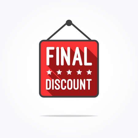 final: Final Discount Long Shadow Label