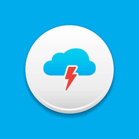 storm cloud: Storm Cloud Round White Icon