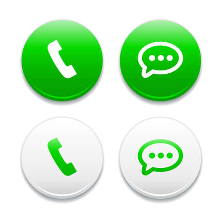 contact icon: Call  Message Round Icons