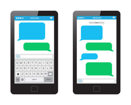 keyboard button: Phone Message Template