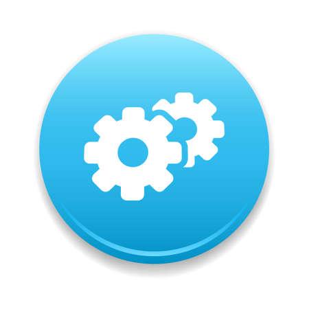 Configuration, Support  Update Round Icon Illustration