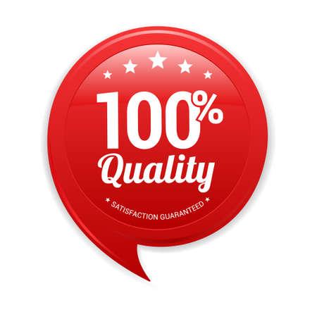 red label: 100 Quality Red label Illustration