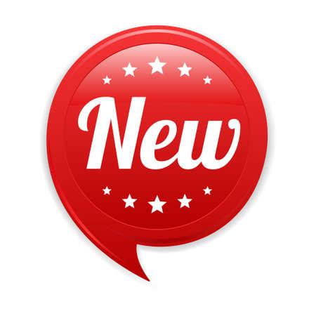 New Red Label Vettoriali