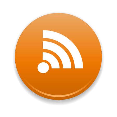 syndication: RSS Round Icon Illustration