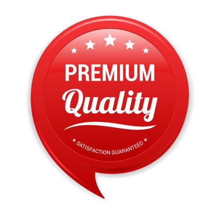 red label: Premium Quality Red Label Illustration