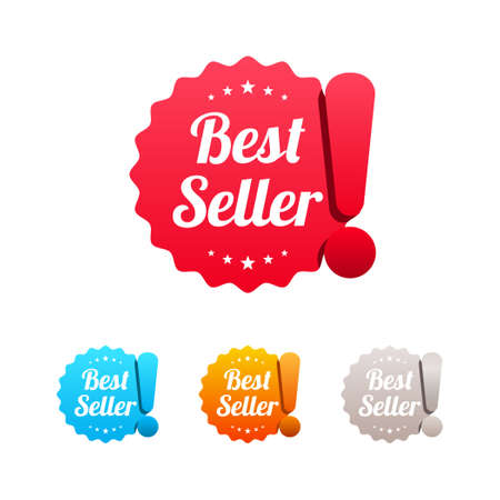 Best Seller Labels Vectores