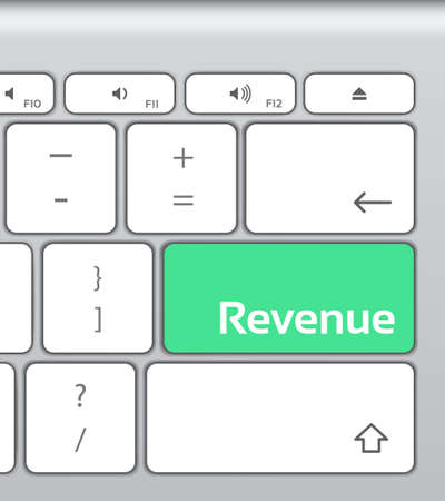 enter button: Revenue Enter Button Keyboard Illustration