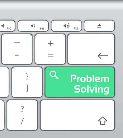 solving: Problem Solving Enter Button Keyboard Illustration