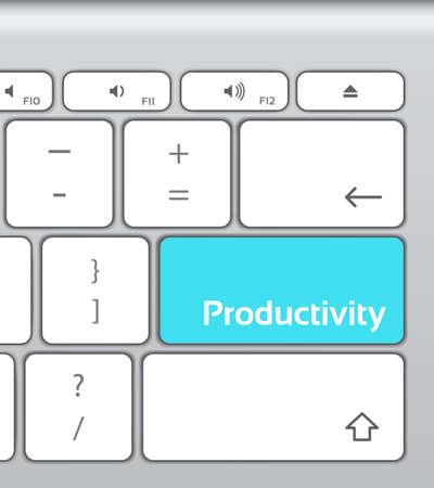 productivity: Productivity Enter Button Keyboard Illustration