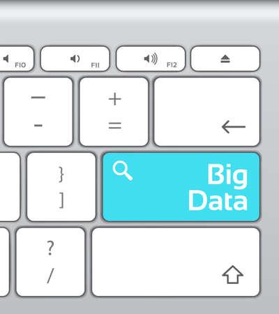 enter button: Big Data Enter Button Keyboard Illustration