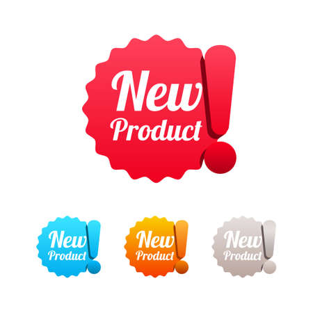 New Product Labels Illustration