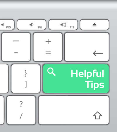 helpful: Helpful Tips Enter Button Keyboard