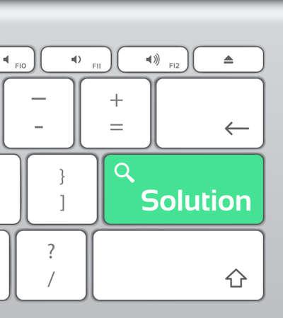 financial advice: Solution Enter Button Keyboard Illustration