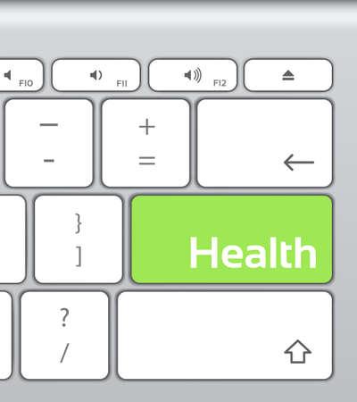 enter button: Health Enter Button Keyboard Illustration