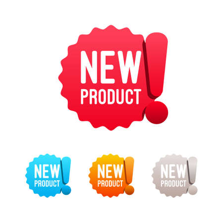 New Product Labels 矢量图像