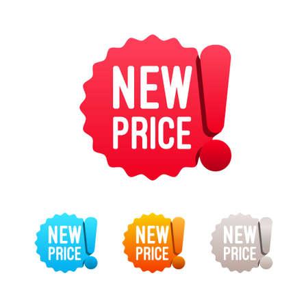 New Price Labels Vectores