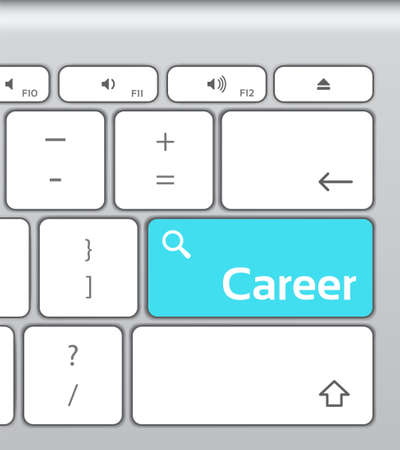 enter button: Career Enter Button Keyboard Illustration