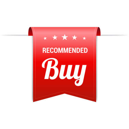 grand sale sticker: Recommended Buy Red Label Illustration