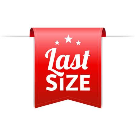 size: Last Size Red Label Illustration