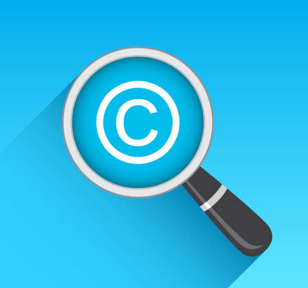 copyright: Copyright Icon Magnifying Glass