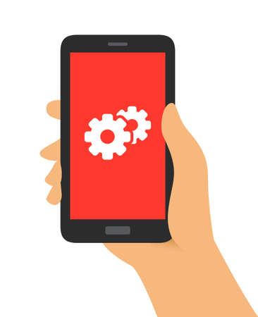 configuration: Hand Holding Phone Configuration  Support Icon